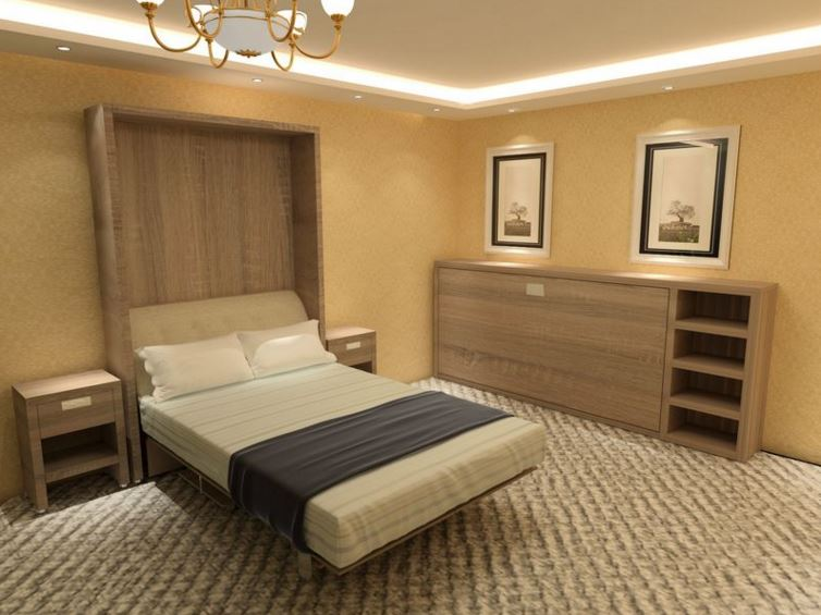 wall bed option 1 made from veneered board