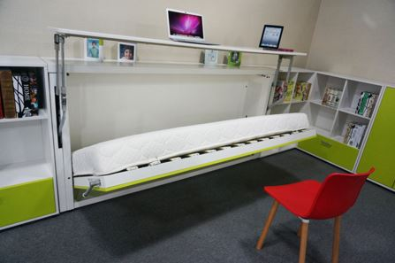 1_Horizontal_Single_Study_Wall_Bed_Open