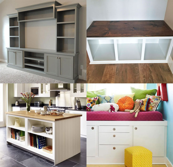 Great ways to use kitchen cabinets carcasses for storage for Cheap kitchen carcass